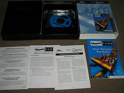 Rare Big Box Electronic Arts  Theme Park With All Paperwork  Excellent