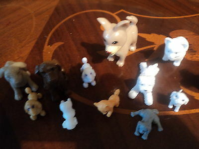 Collection Of Plastic Dog Models/toys