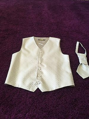 Boys Waistcoat And Cravat Age 13-14 Years Wedding /christening/party