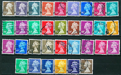 Collection Of Different Used GB HV Machin Definitives Including Security Types.