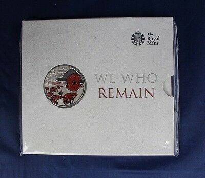 "2015 Alderney Royal Mint £5 Crown ""Remembrance"" in folder  (Y3/34)"