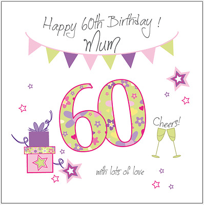 Personalised 60th Birthday Card Mum Gran Grandma Nan Nana Nanny Nanna Mam Mom