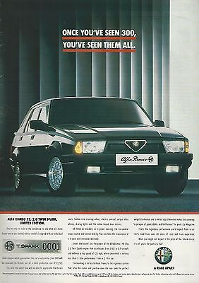 1991 ALFA ROMEO 75 advertisement, British advert, Twin Spark Limited edition