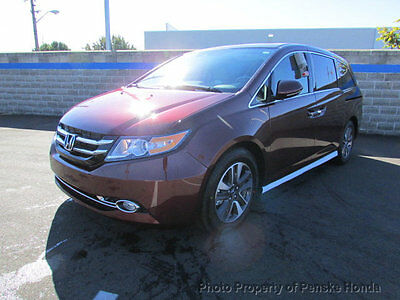 2017 Honda Odyssey Touring Elite Automatic Touring Elite Automatic New 4 dr Van Automatic Gasoline 3.5L V6 Cyl Deep Scarlet