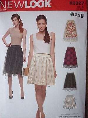 New Look Skirt With Lace Overlay Detail Sewing Dressmaking Pattern**