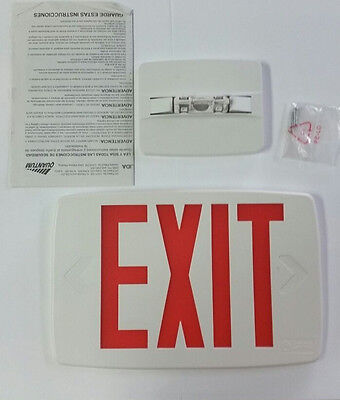 Lithonia Lighting LED Exit Sign 142AN4 White Red Letters
