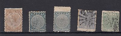 Fiji.5 -- Very Early Used Stamps On Stockcard.mixed Condition