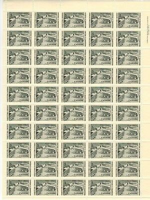 Canada Stamp #431 Inscription Sheet 50 stamps Plate 1 UR MNH Conf Memorial
