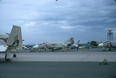 Original Kodak aircraft slide,F-4J 153795 NJ-100 VF-121 at 14-Oct-1972