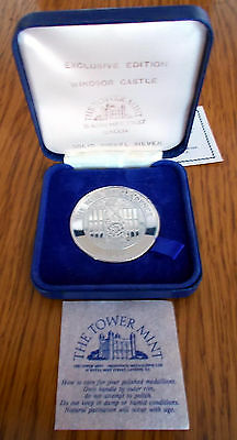 1982 Windsor Castle Nickel Silver Medallion - The Bull of Clarence