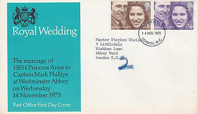 1973 FDC Marking the Marriage of Princess Anne And Mark Phillips