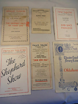 theatre programmes from the late 1940s