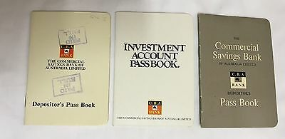 Commercial Bank CBA Bank Passbooks Collectable