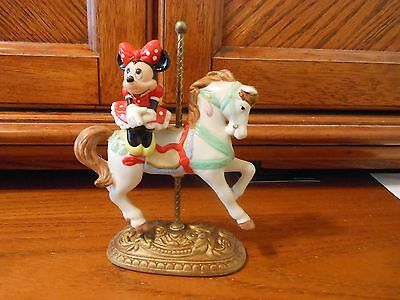 Minnie Mouse Miniature Carousel Horse Stand in Excellent Condition