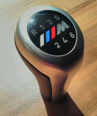 BMW M Sport M Power 6 Speed Gear Knob Stick Fits all Manual Cars Leather Chrome