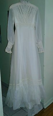 Vintage 1960's Wedding Dress/Gown. White. Used way back when lol.