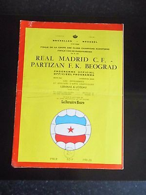 1966 European Champions Cup Final  REAL MADRID v PARTIZAN BELGRADE