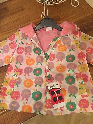 Baby girl rain coat from ladybird size age 6-9 months so cute