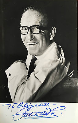 Autograph letter and postcard signed by Arthur Askey. 2 items