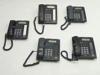 Lot Of 5 Panasonic Kx-T7736-B Black 24-Button Display Business Phone Telephone