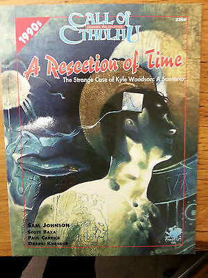a resection of time.Call of cthulhu. chaosium nr mint