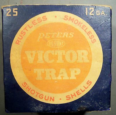 Empty Peters Victor Trap 12 ga. Shot Shell Box.
