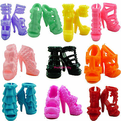 1 Set = 10x Shoes Lot Beauty High Heels Sandal Accessories For Barbie Doll Toy B