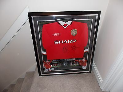 Rare Limited Edition Manchester United Champions League  Signed Framed Shirt