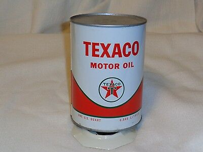 Texaco 1qt full  vintage oil can Free shipping