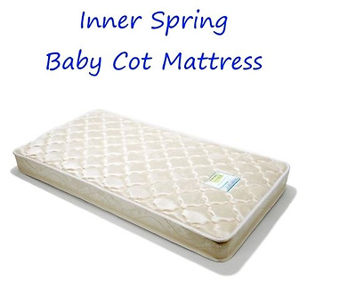 USED Baby Toddler Infant Cot Inner Spring Cot Mattress L130 W69 H13cm