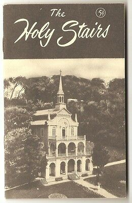 Ste Anne de Beaupré Quebec The Holy Stairs Brochure circa 1955 Record of Prayers