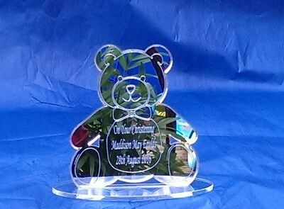 Christening Custom Made Personalised Present Gift Keepsake BabyTeddy Mirror