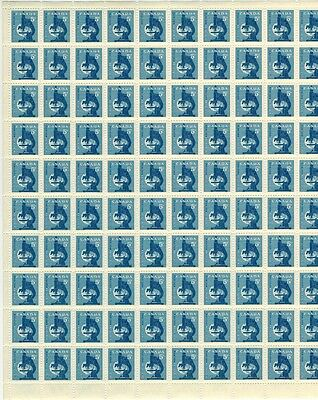 Canada Stamp #376 Field Stock Sheet 100 stamps  MNH Microscope