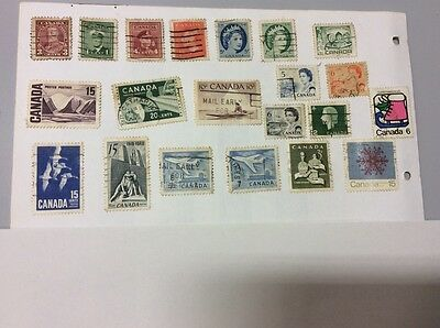 Selection of  used postage stamps from  Canada ����