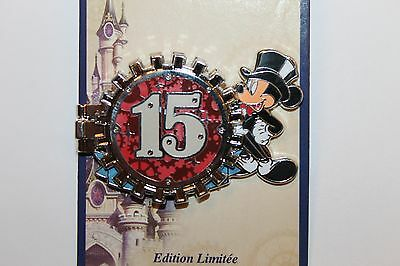 PIN PINS DISNEY PARIS - SOLD OUT !!  NEW 25 th ANNIVERSARY COUNTDOWN 15 YEARS !!