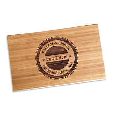 Personalised Gift Engraved Chopping Board for Wedding Birthday Engagement Gift