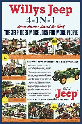 Willys Jeep 4 in 1 CJ2A