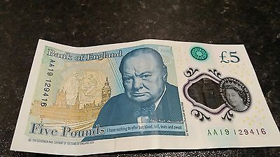 £5.00 Note AA19
