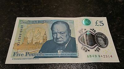 £5.00 Note AB49