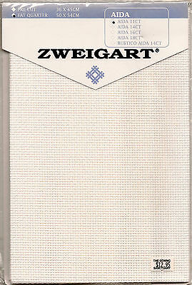 AIDA Cloth 11 count ZWEIGART 50 x 54cm Cross Stitch counted fabric