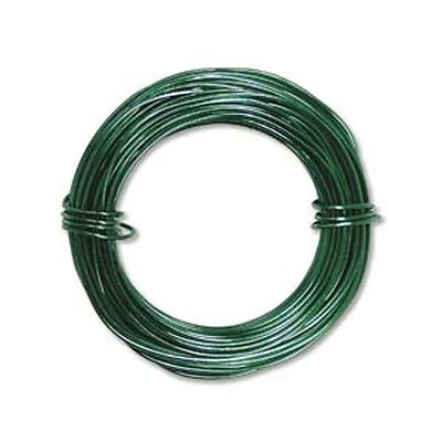 Anodized Aluminum Wire 18 Gauge 39 Ft Kelly Green 41285 Round Shiny