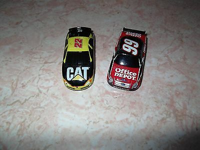 Ho Slot Car 2 Bodies Life Like #99 Office Depot And #22 Cat