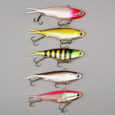 High Quality 5pcs Lot Split Fishing Lures Bass Soft Fish Bait Tackle 9.5cm 20g