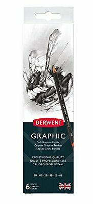 Derwent Graphic Matite di Grafite in Scatola di Metallo con Temperamatite (Confe