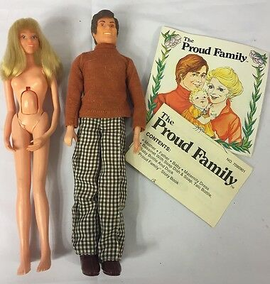 The Proud Family by Remco Vintage 1978 mom, dad, NO Baby.