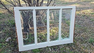 VINTAGE SASH ANTIQUE WOOD WINDOW UNIQUE FRAME PINTEREST RUSTIC 4 PANE 28x19