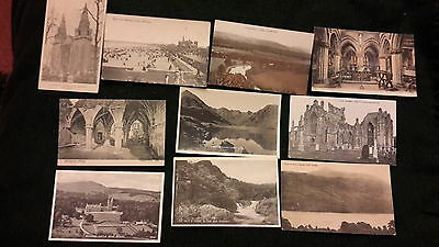 10 x old postcards of Scotland - Aberdeen, Balmerino Abbey, Melrose, Inverness,
