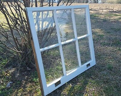 Vintage Sash Antique Wood Window Frame Pinterest Rustic 6 Pane 34X30 Very Old
