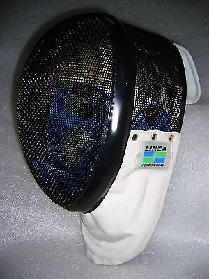 Linea Fencing Mask w/ Padded Neck Cover sz: S Clean EUC
