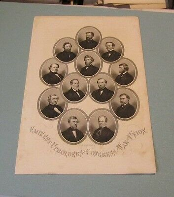 Civil War Era Upholders in Congress of the War for the Union H.B. Hall Engraving